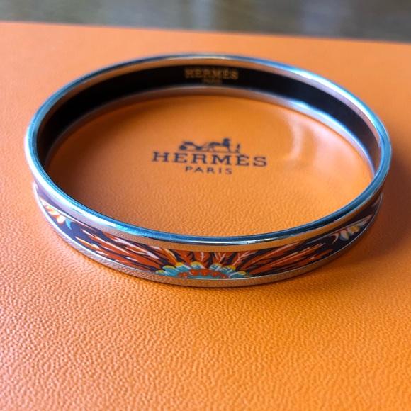 eff3c0ef2d8 Hermes Jewelry - Hermes Brazil Narrow Enamel Bangle Bracelet